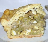 Spring Cabbage, Mushroom, Dill and Cream Cheese Pie