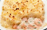 Cod, Salmon and Prawn Pie