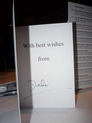 a surprise card from Delia herself